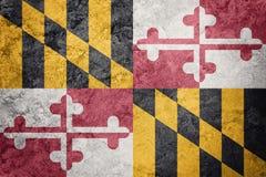 Grunge Maryland state flag. Maryland flag background grunge text Stock Photo