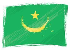 Grunge Mauritania flag Stock Photo