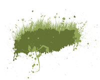 Grunge meadow silhouettes. Vector grunge grass silhouettes background. All objects are separated royalty free illustration
