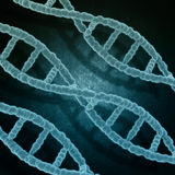 Grunge medical background with DNA strands Stock Image