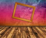 Grunge mehrfarbiger Innenraum Stockfoto