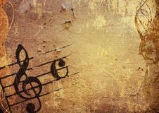 Grunge melody. Abstract grunge melody textures and backgrounds with space Royalty Free Stock Photos