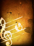Grunge melody textures Royalty Free Stock Images