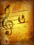 Grunge melody textures and backgrounds Stock Photography