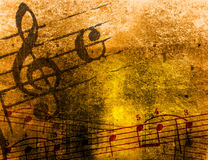 Grunge melody textures and backgrounds Royalty Free Stock Images