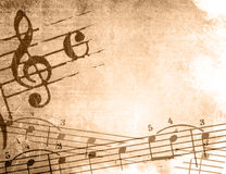 Grunge melody textures and backgrounds royalty free illustration