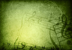 Grunge melody textures and backgrounds Royalty Free Stock Photos