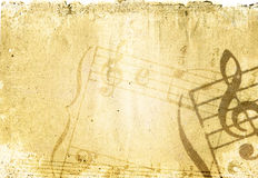 Grunge melody textures and backgrounds vector illustration