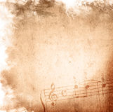 Grunge melody textures and backgrounds Stock Images