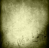 Grunge melody textures and backgrounds Stock Photos