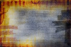 Grunge messy retro abstraction Royalty Free Stock Images