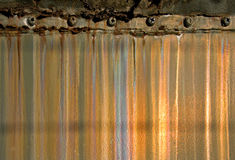 Grunge Metal Background. With rust and screws Stock Photos