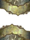 Grunge metal background with elegant frame Stock Images