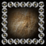 Grunge Metal Background with Gears Royalty Free Stock Image