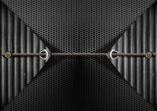 Grunge Metal Background with hexagon grid texture Stock Photography