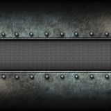 Grunge metal background and mesh. 3d illustration. Royalty Free Stock Images