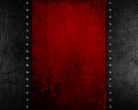 Grunge metal background with red distressed texture Royalty Free Stock Images