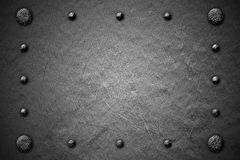 Grunge metal background. rivet on metal plate. Royalty Free Stock Photo