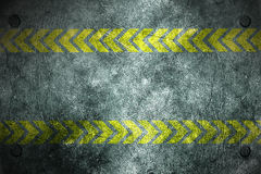 Grunge metal background. rivet on metal plate and yellow Royalty Free Stock Images