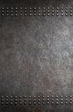 Grunge metal background with rivets Royalty Free Stock Photo