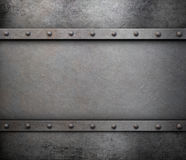 Grunge metal background with rivets royalty free stock image