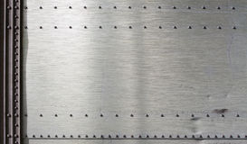 Grunge metal background template. With rivets Stock Image