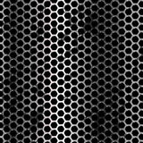 Grunge metal background. Vector geometric pattern of hexagons Stock Photography