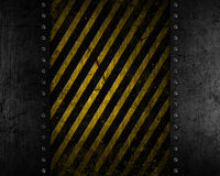 Grunge metal background with yellow and black distressed texture Stock Photo