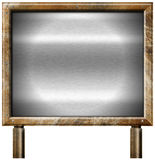 Grunge Metal Brown Billboard with Metal Background Royalty Free Stock Photography