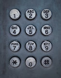 Grunge metal button phone Royalty Free Stock Photo