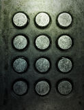 Grunge metal button phone. Background texture Royalty Free Stock Images