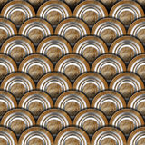 Grunge Metal Circles Background. Grunge Texture or background with metal gray and brown circles Stock Photo