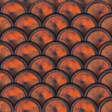 Grunge Metal Circles Background - Wine Barrels Royalty Free Stock Photo