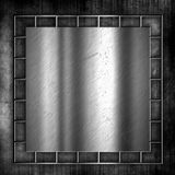 Grunge metal and concrete background Royalty Free Stock Image