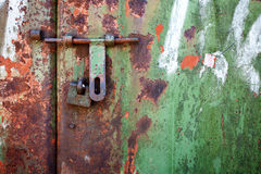 Grunge metal door Royalty Free Stock Photography