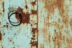 Grunge metal door background Royalty Free Stock Photography