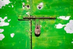 Grunge metal door Stock Photography