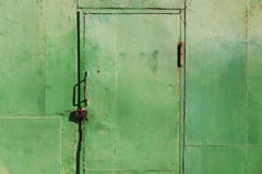 Grunge metal door Stock Photo