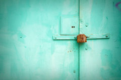 Grunge metal door Stock Image
