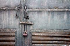 Grunge metal door Stock Photo