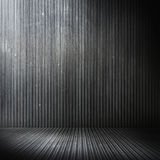 Grunge metal empty room Royalty Free Stock Images