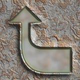 Grunge metal frame Stock Photo