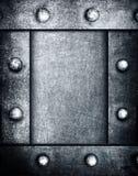 Grunge metal frame background Stock Photo