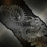 Grunge metal gears background Royalty Free Stock Photos