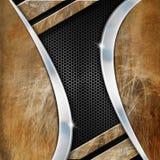 Grunge Metal Geometric Background Royalty Free Stock Images
