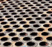 Grunge metal grid Stock Images