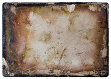 Grunge metal plate. Royalty Free Stock Photos