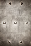 Grunge metal plate as background texture Stock Photos