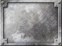 Grunge metal plate background Royalty Free Stock Photography