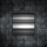 Grunge metal plate background Royalty Free Stock Photos